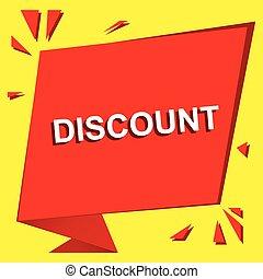 afisz, text., sprzedaż, dyskonto, wektor, reklama, chorągiew