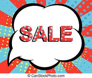 afisz, text., sprzedaż, wektor, reklama, chorągiew