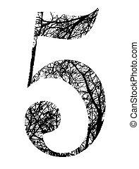 af)knippen, gemaakt, takken, boompje, verkleumder vijf, steegjes, black