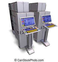 af)knippen, of, schaduw, wetenschap, mainframe., fictie,...