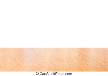 af)knippen, van hout top, toonbank, vrijstaand, white., tafel, steegjes, bewaarde, of, lege