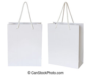 af)knippen, vrijstaand, zak, papier, steegjes, witte