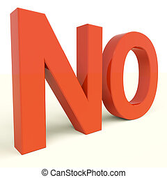 afkræftelsen, glose, nej, viser, panik, negativity