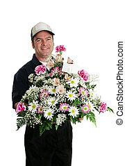 aflevering, bloem, verticaal