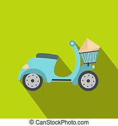 aflevering, plat, scooter