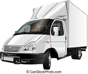 aflevering, vracht vrachtwagen, /