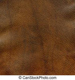 afligido, marrom, couro, textura