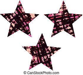 afligido, textura, estrela