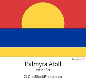afmetingen, nationale, kleuren, palmyra, vlag, element,...