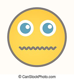 Afraid - Cartoon Smiley Vector Face