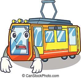 Afraid electric train toys in shape mascot