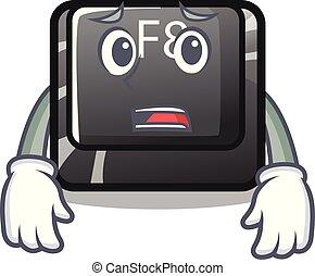 Afraid f8 button installed on computer mascot