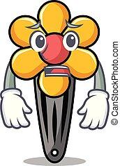 Afraid hair clip mascot cartoon