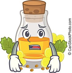 Afraid mustard oil wrapped in mascot box
