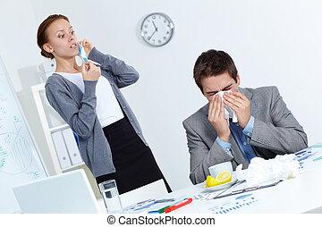 Afraid of catching virus