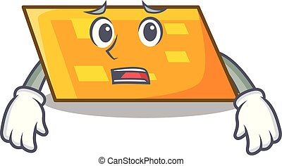 Afraid parallelogram mascot cartoon style