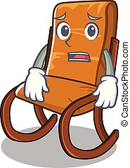 Afraid rocking chair in the cartoon shape