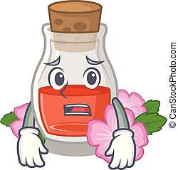 Afraid rose seed oil the cartoon shape