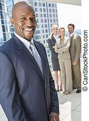 afričan američanka, obchodník, i kdy, business četa