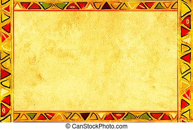 afričan, národnostní, charakter