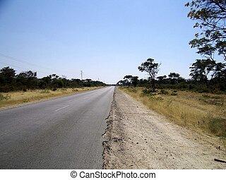 afričan, road.