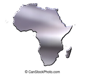 Africa 3D Silver Map
