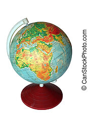 globe - africa and europe on the globe