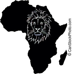 Africa and lion