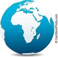 Africa, Arabia Global World