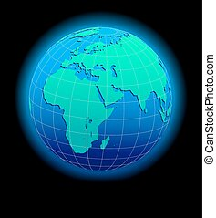Africa Arabia India Global World
