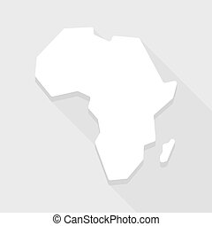 Africa continent map icon