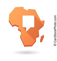 Africa continent map icon with a tooltip