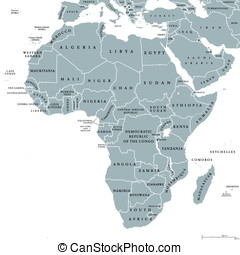 Africa countries political map