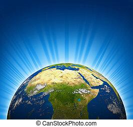 africa, e, medio oriente, vista