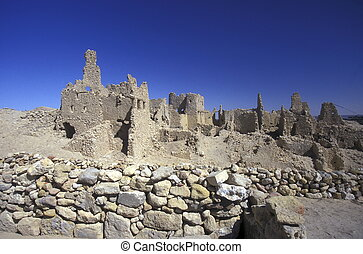AFRICA EGYPT SAHARA SIWA OASIS - the old town of the Oasis...