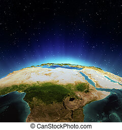 Africa. Elements of this image furnished by NASA