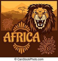 Africa - Ethnic poster illustration.