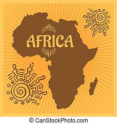 Africa - Ethnic poster. Vector illustration.