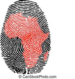Africa-fingerprint