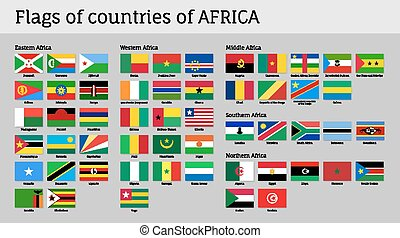 Africa flags big set