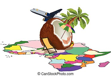 africa flying coconut with female legs