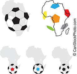 Africa football symbol isolated on the white background