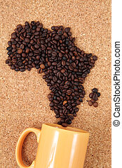 africa from coffee beans