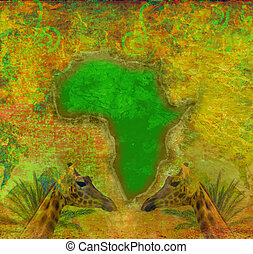 africa, grunge, continente, fondo