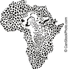 Africa in a cheetah camouflage