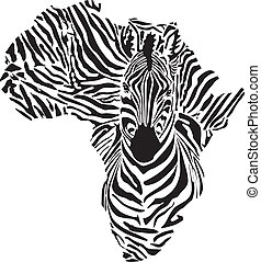 Africa in a zebra camouflage