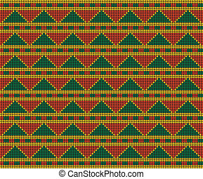 Africa-inspired pattern (ornaments, background, Seamless...