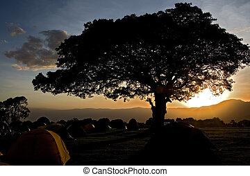 africa landscape 033 ngorongoro night view