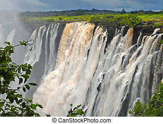 africa), majestueux, vue, falls(south, victoria