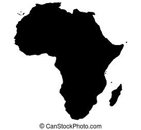 Africa Map Childlike Design Of Continent Clipart